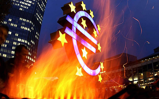 The warnings come just as the European Central Bank prepares a blitz of bond purchases at a crucial meeting on Thursday Photo: AP