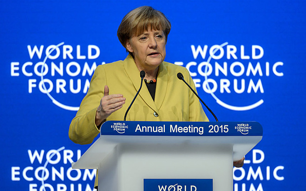 The German chancellor reportedly offers an agreement with the European Union at the World Economic Forum in Davos.