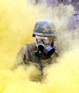 mustard gas training in the army