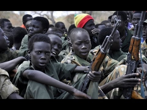 The UN believes 12,000 children were used as child soldiers across South Sudan last year