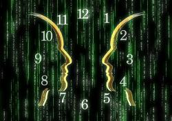 matrix-face-silhouette-communication-online-time