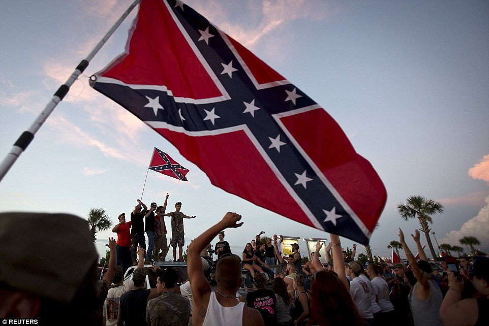 Southern culture is being exterminated': Hundreds rally to PROTECT ...