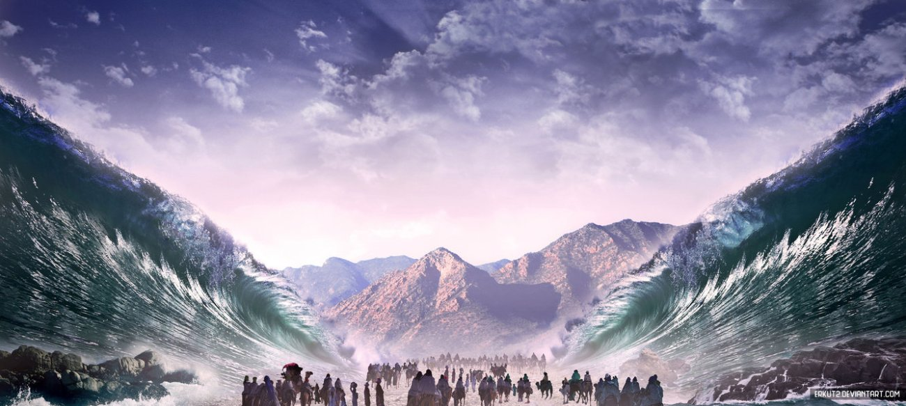 crossing_of_the_red_sea__matte_painting__by_erkut2-d86cxpv